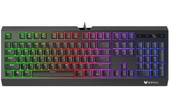 RAPOO V52S Backlit Mechanic Alike Gaming Keyboard Black - Spill-Resistant Adjustable Backlight