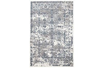 Yasmin Distressed Transitional Rug White Blue Grey 400X300cm