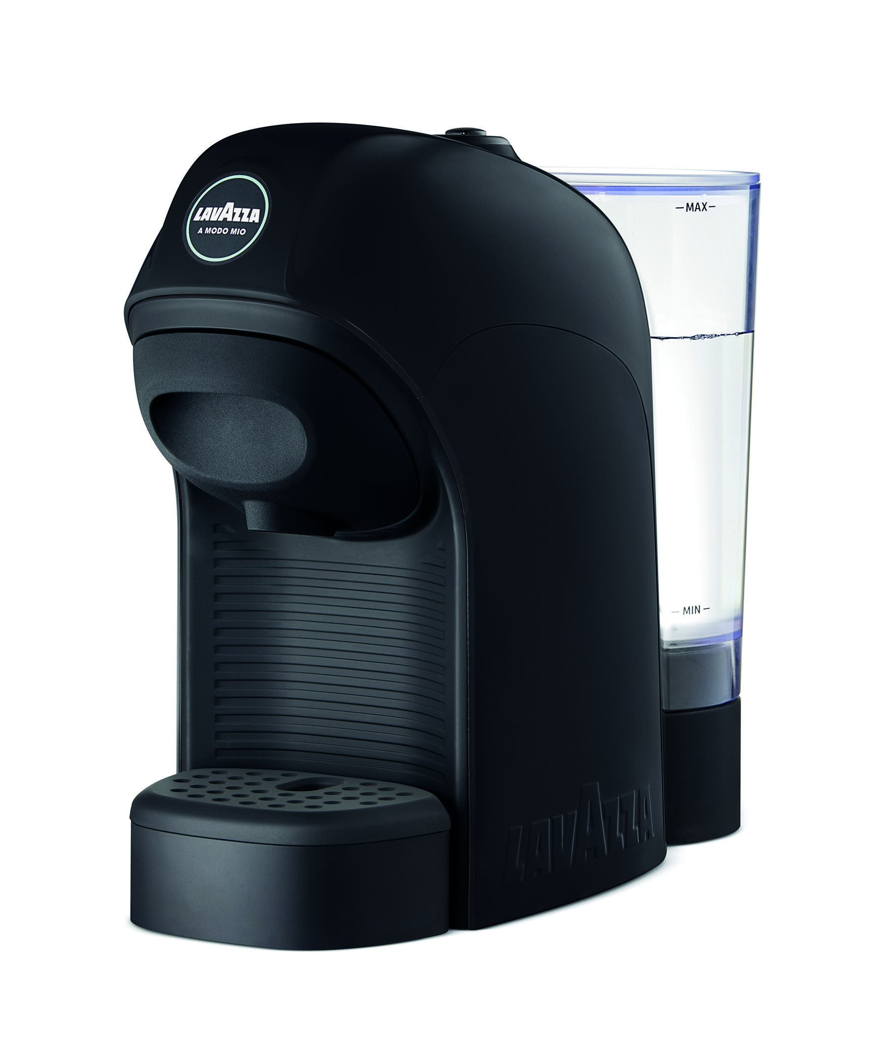 Lavazza Tiny Coffee Machine - Black (18000177) Espresso on the inside and cheerfulness on the outside, the Lavazza Tiny Coffee Machine will liven up your coffee corner. With tiny coffee machine in the house, every espresso is a good opportunity to be among friends.   On/Off button Easy loading Removable cup rest 9-minute automatic shut-off Transparent water tank Adjustable cup rack height Ready time 25 seconds