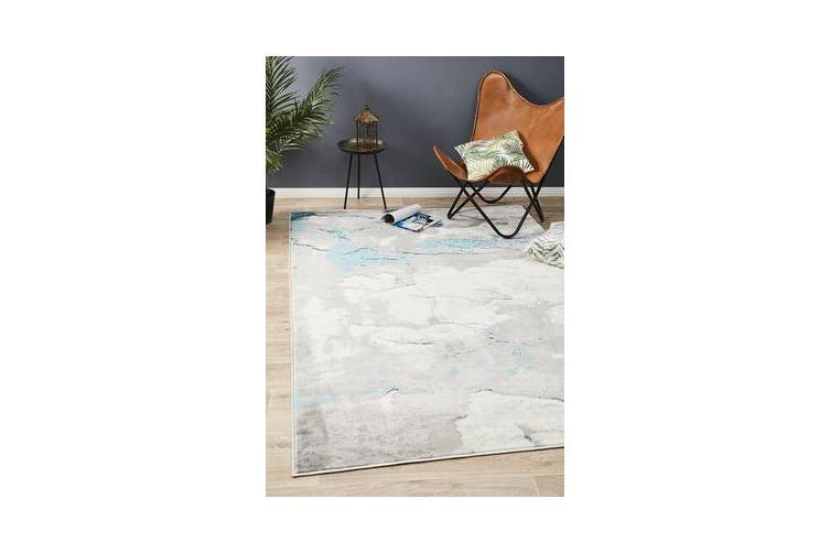 Felicia Blue & Grey Soft Rug 290x200cm