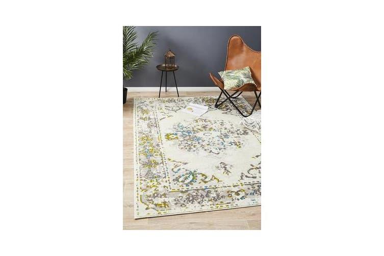Felicia Ivory & Green Soft Rug 290x200cm