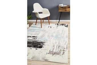 Felicia Blue & Charcoal Soft Coastal Rug 290x200cm