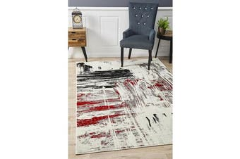 Felicia Red & Charcoal Soft Abstract Rug 230x160cm