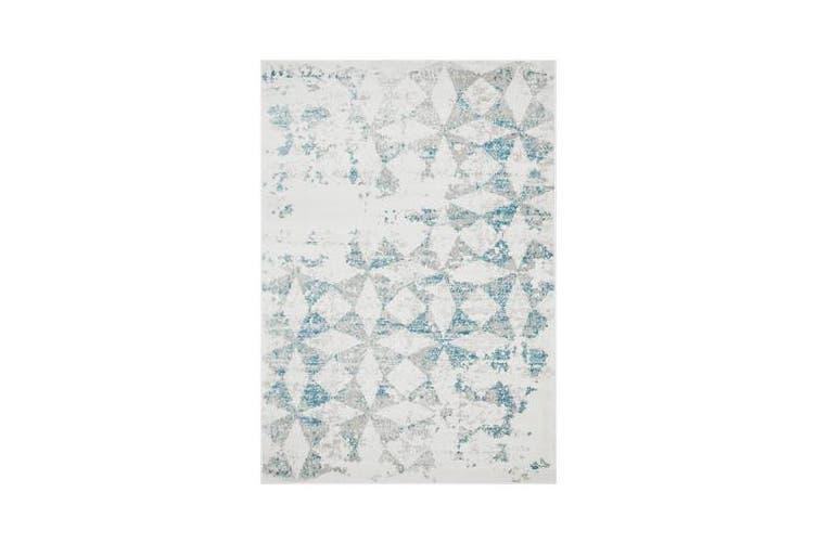 Felicia Blue & Ivory Soft Tile Rug 230x160cm