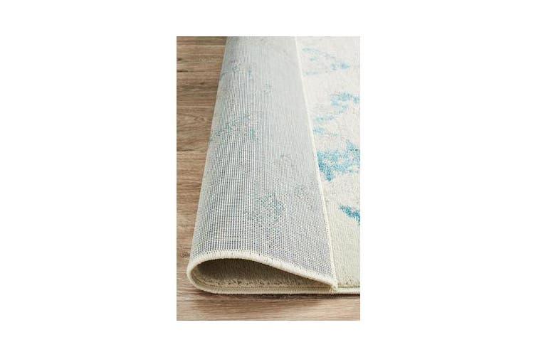 Felicia Blue & Ivory Soft Tile Rug 330x240cm
