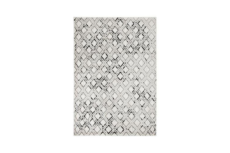 Felicia Grey & Charcoal Soft Geometric Rug 330x240cm