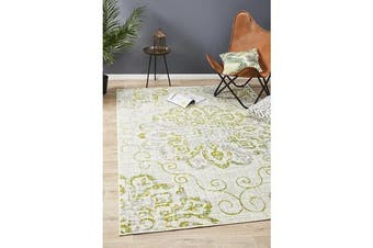 Felicia Lime & Grey Soft Vintage Look Rug