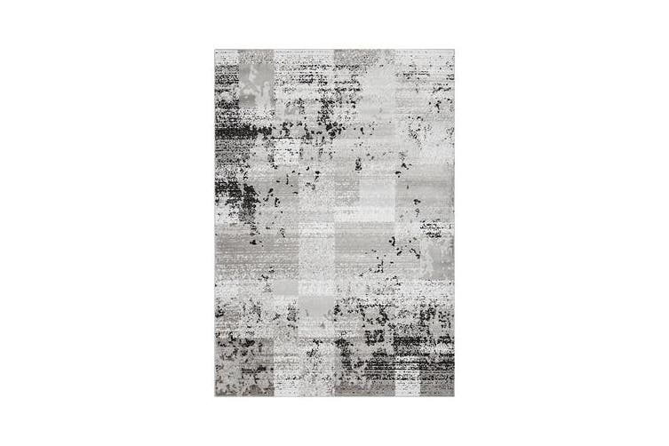 Felicia Grey & Charcoal Soft Abstract Rug 290x200cm