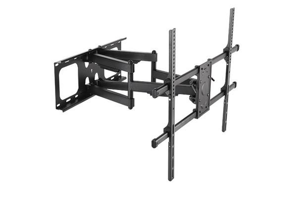 """BRATECK Full-motion TV Wall Mount   for 50-90"""""""" Curved and Flat TVs. Max VESA 800x600. Tilt 5  -15"""