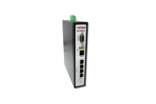 Netsys Managed Industrial VDSL2 CO Router. 4xRJ45 10/100Mbps. 1xRJ11/Terminal block connector for