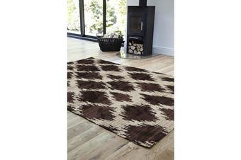 Morrocan Diamond Design Rug Chocolate