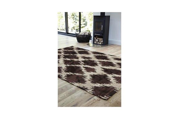 Morrocan Diamond Design Rug Chocolate 230x160cm