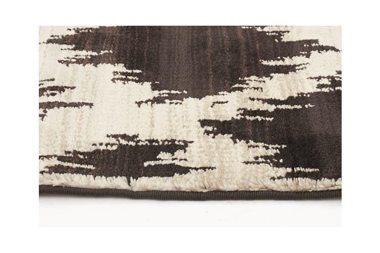 Morrocan Diamond Design Rug Chocolate 330x240cm