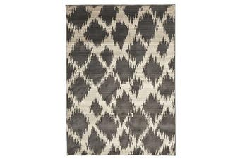 Morrocan Diamond Design Rug Charcoal