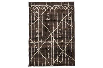Morrocan Tribal Design Rug Chocolate