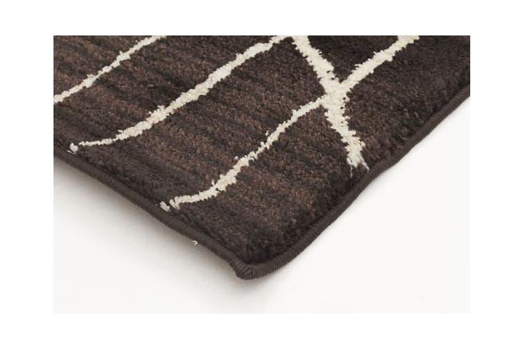 Morrocan Tribal Design Rug Chocolate 230x160cm