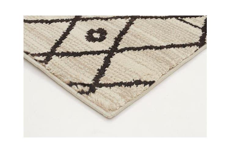 Morrocan Lines Design Rug Cream 230x160cm