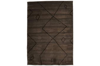 Morrocan Large Diamond Design Rug Chocolate