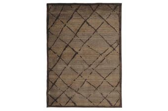 Morrocan Rustic Design Rug Chocolate