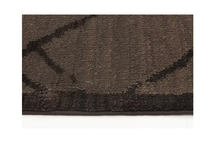 Morrocan Rustic Design Rug Chocolate 290x200cm