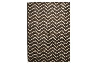 Morrocan Chevron Design Rug Brown Beige