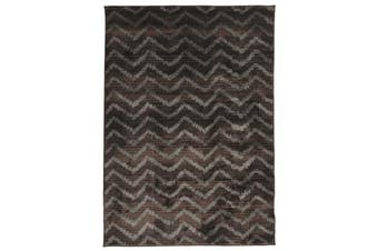 Morrocan Chevron Design Rug Brown Grey
