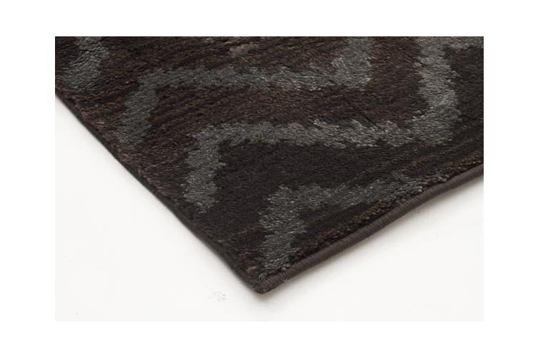 Morrocan Chevron Design Rug Brown Grey 290x200cm
