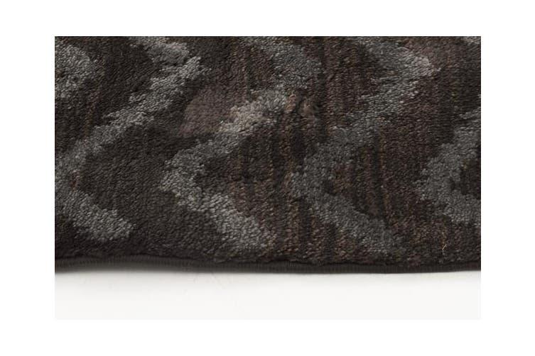 Morrocan Chevron Design Rug Brown Grey 230x160cm