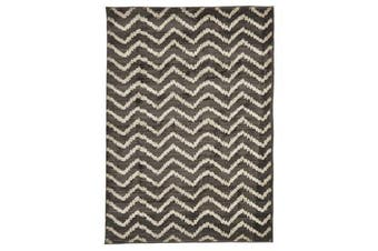 Morrocan Chevron Design Rug Grey