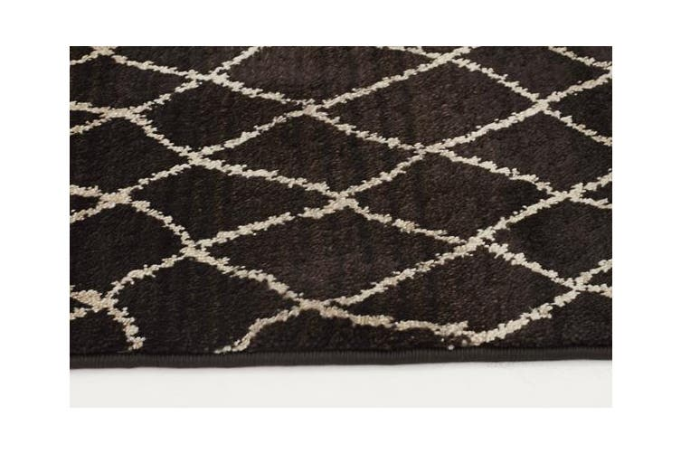 Morrocan Web Design Rug Chocolate 290x200cm
