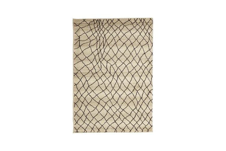 Morrocan Web Design Rug Cream 290x200cm