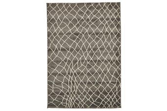 Morrocan Web Design Rug Grey