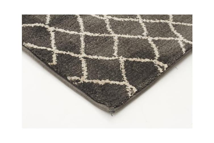 Morrocan Web Design Rug Grey 230x160cm