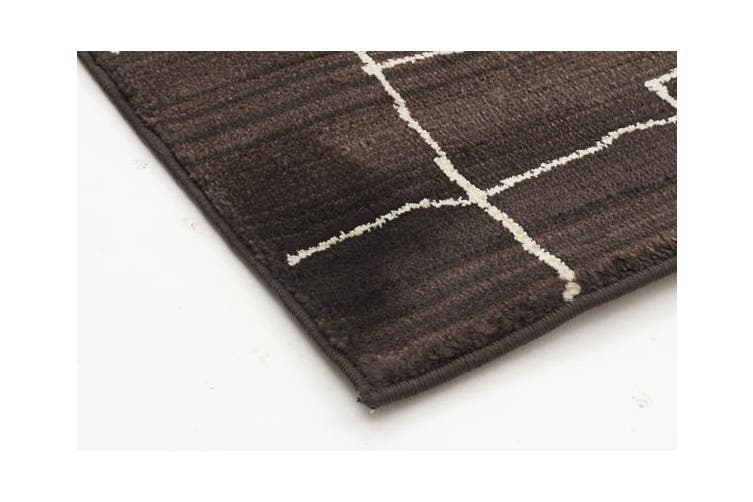 Morrocan Paved Design Rug Chocolate 230x160cm