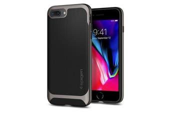 Spigen iPhone 8 Plus / 7 Plus Neo Hybrid Herringbone Case Gunmetal
