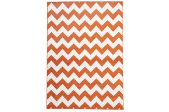 Indoor Outdoor Zig Zag Rug Orange 230x160cm