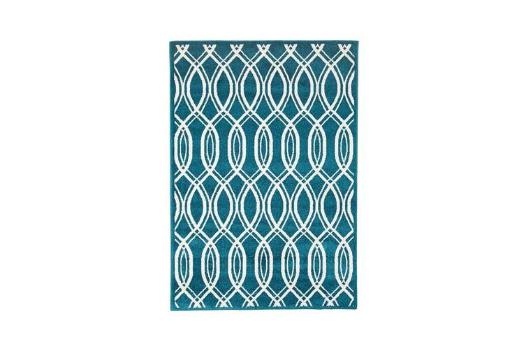 Indoor Outdoor Lucid Rug Peacock Blue 230x160cm