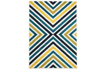 Indoor Outdoor Hex Rug Blue Blue Navy 290x200cm