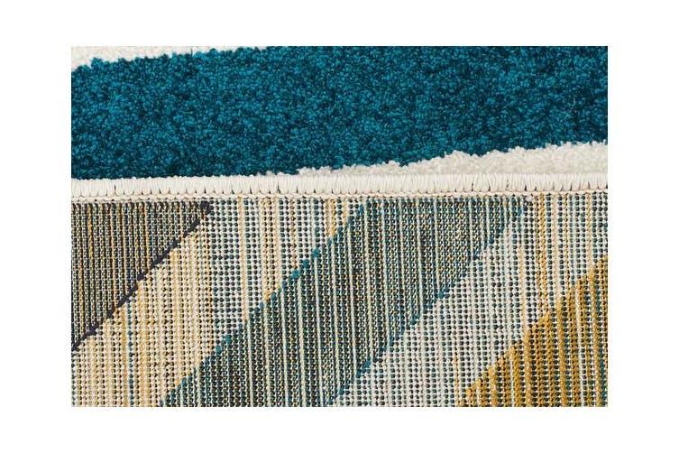 Indoor Outdoor Hex Rug Blue Blue Navy 230x160cm
