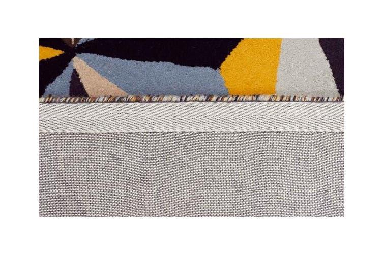 Crystal Designer Wool Rug Blue 280x190cm