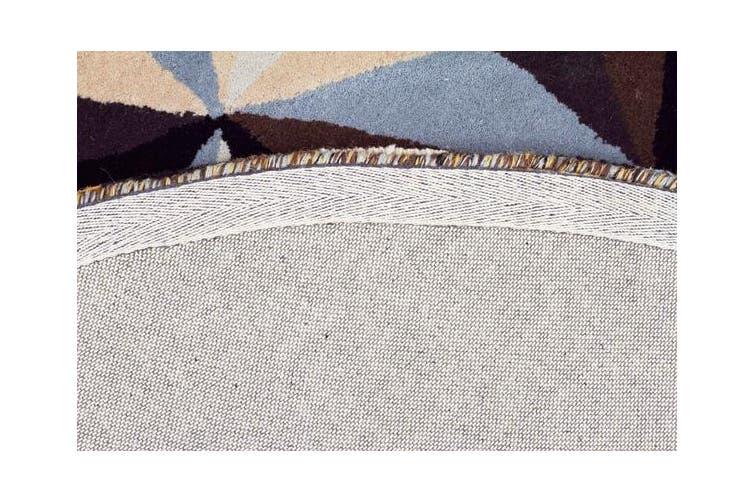 Crystal Designer Wool Rug Blue 150x150cm