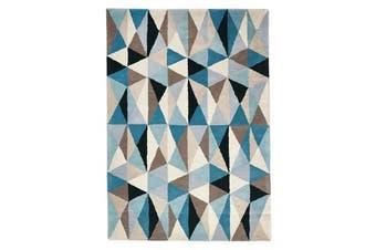 Gem Stone Designer Wool Rug Blue 320x230cm