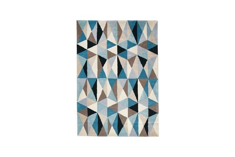 Gem Stone Designer Wool Rug Blue 280x190cm