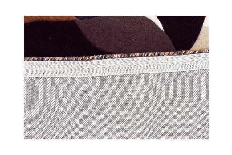 Crossroads Designer Wool Rug Brown White Grey 400x80cm