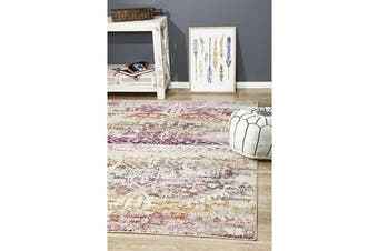 Hazel Sunset Durable Vintage Look Rug 330x240cm