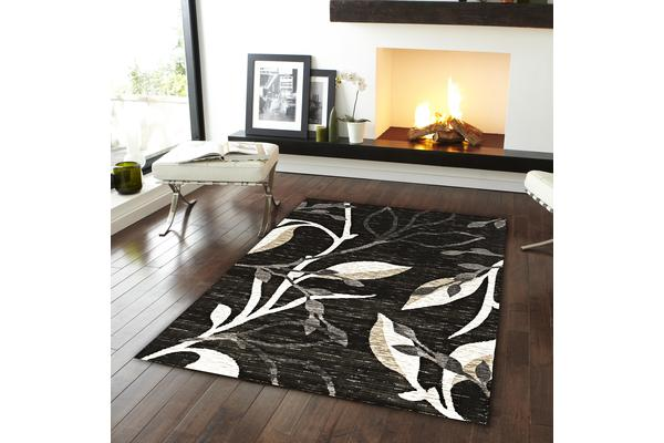View more of the Designer Branch pattern Rug Charcoal 230x160cm