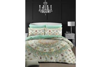 Style & Co 100 % Cotton Reversible Quilt Cover Set Single Mandella