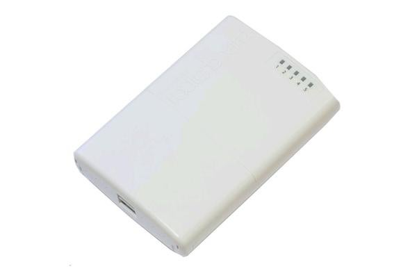 MikroTik RB750P-PB PowerBox outdoor five Ethernet port router with PoE output on four ports to