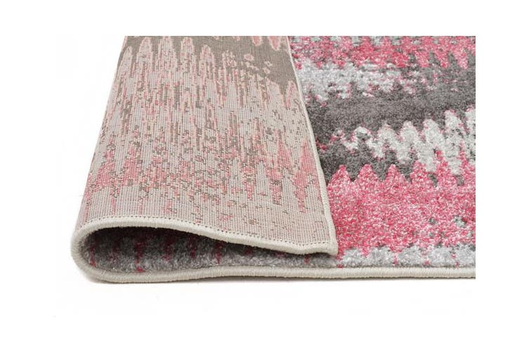 Hannah Matrix Rug Pink Grey 290x200cm