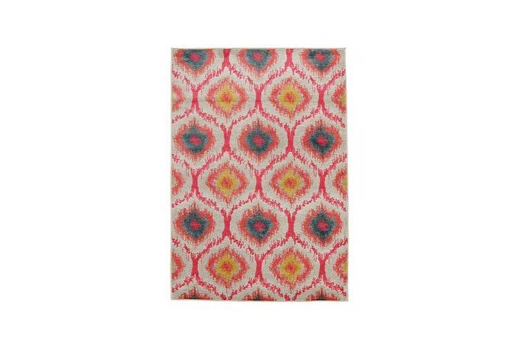Gypsy Heirloom Rug Pink Yellow Grey 330x240cm